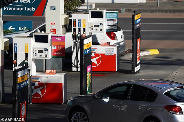 Oil plunged more than 20 per cent after Saudi Arabia slashed its official selling price. Pictured: A Caltex service station in Melbourne