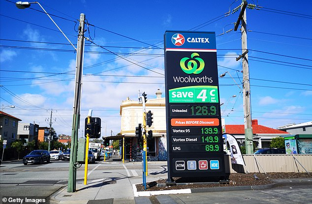 Petrol could plummet to $1 per litre in Australia. Pictured: A Caltex Petrol Station showing prices on March 2, 2020