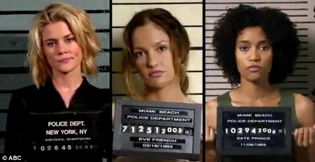 The new girls: (Left to right) Rachael Taylor, Minka Kelly and Annie Ilonzeh star in the new TV remake of Charlie
