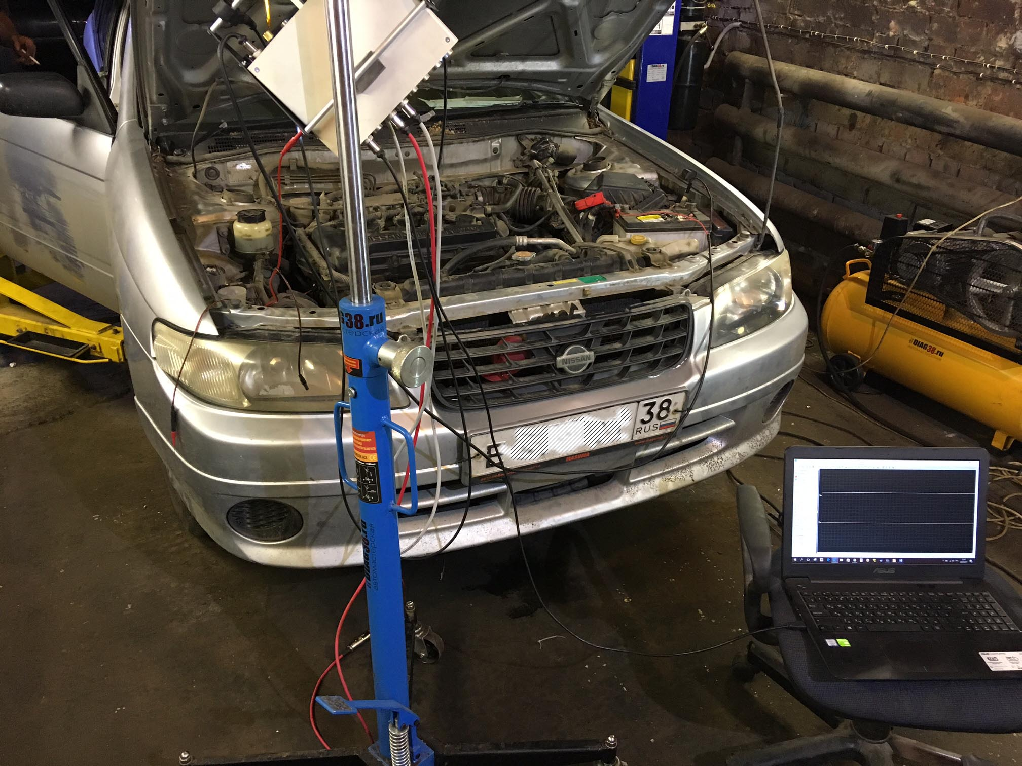 диагностика двигателя Nissan